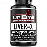 Dr. Emil Liver-X Liver Cleanse & Detox with Milk Thistle, Dandelion Root & Powerful Antioxidants - Total Liver Aid & Support Supplement (60 Veggie Capsules)