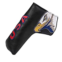PINMEI Golf Putter Headcover Synthetic Leather Magnetic Closure for Scotty Cameron Odyssey Blade Taylormade Titleist Ping
