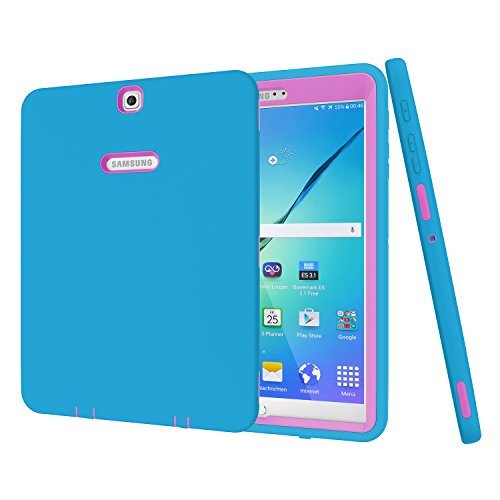 Galaxy Tab S2 9.7 Case, Beimu 3 in 1 Shockproof Heavy Duty Rugged Hybrid Armor Defender Protection Cover for Samsung Galaxy Tab S2 - Galaxy Gel For Samsung Cover S2