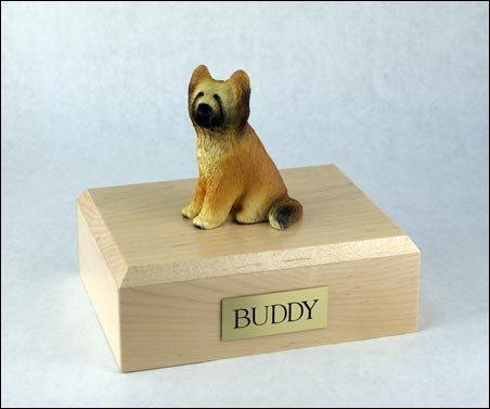 - GENUINE North American Hardwood and Briard Dog Figurine Pet Urn Xlarge