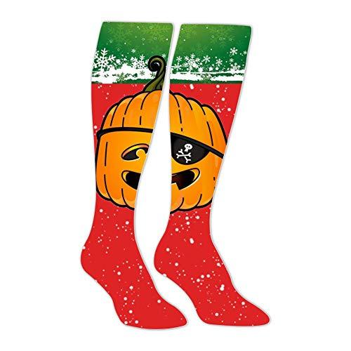 - SHNeiy Funny Pirate Pumpkin Unisex 3D Pattern Long Stocking Football Sports Crew Tube Socks