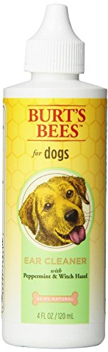 Burts Bees for Dogs Ear Cleaning Solution with Peppermint and Witch Hazel, 4 Ounces