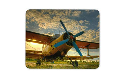(Cool Sunset Tiger Moth Plane Mouse Mat Pad - Pilot Flying Mouse Pad Mousepad)