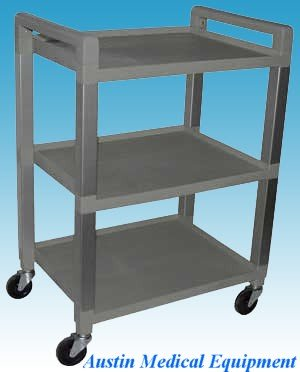 Cart - 3 Tier Poly in Gray - New by AME (Electrodes Polys)
