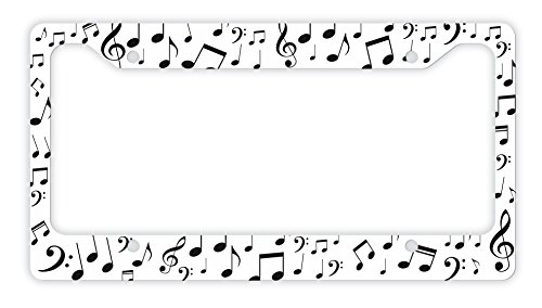 music notes license plate frame 9 - Music Note Picture Frame