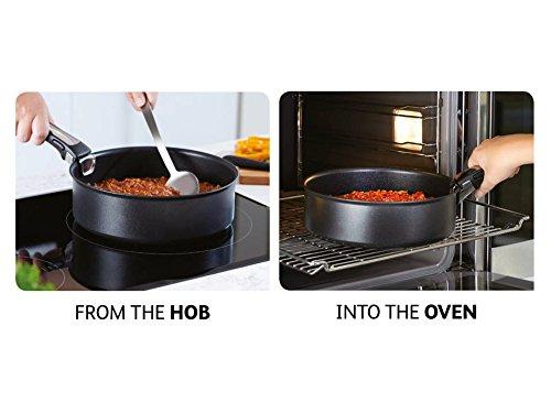 Black Tefal Ingenio Essential 3 Piece Frying Pan Trial Offer Set
