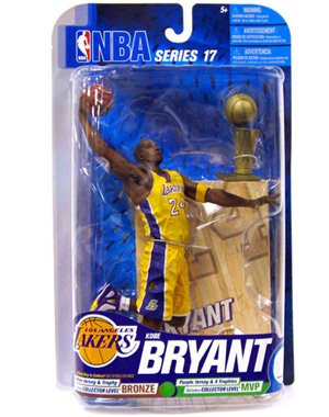 McFarlane Toys NBA Sports Picks Series 17 2009 Wave 2 Action Figure Kobe Bryant (Los Angeles Lakers) Yellow Jersey with Trophy Bronze Collector Level Chase by McFarlane Toys