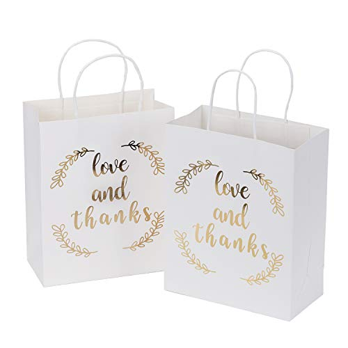 Bags Party Wedding Favors Wraps - LaRibbons Medium Size Gift Bags - Gold Foil