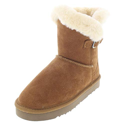 Style & Co. Womens Tiny2 Suede Round Toe Ankle Cold Weather, Chestnut, Size 9.0 from Style & Co.