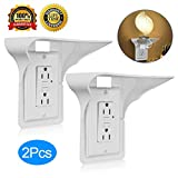 Outlet Shelf,Wall Outlet Shelf,Shelf Outlet,Dot Shelf, Power Perch,Power Shelf,Otlet Shelf,Utlet Shelf,Outlet With Shelf-2 Pack,Holds Up to 10 lbs