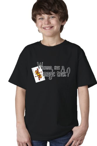 WANNA SEE A MAGIC TRICK? Youth T-shirt / Magic Fan Card Trick Tee Shirt