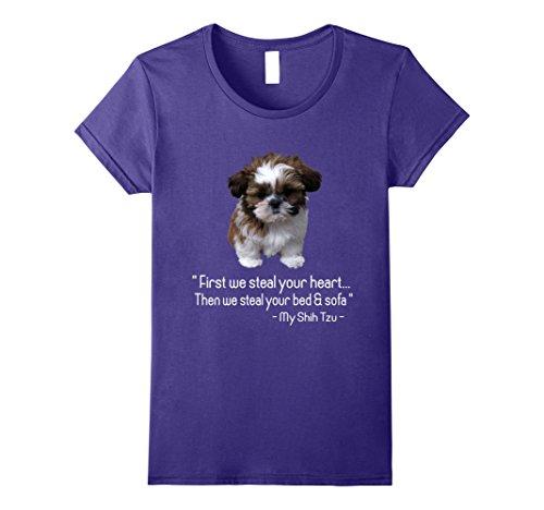 Womens Shih Tzu Shirt XL Purple