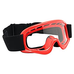 TMS YOUTH RED OFF-ROAD GOGGLES MOTOCROSS DIRT BIKE ATV MX (AS10-R)
