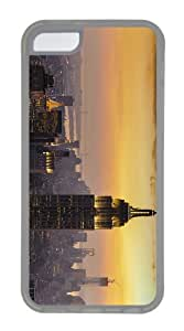 covers carrying new york city sunset TPU Transparent Case for iphone 5C