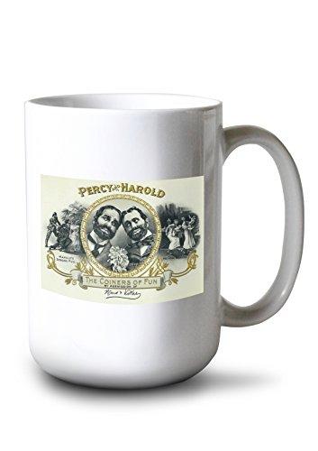 Percy and Harold Brand Cigar Box Label - The Coiners of Fun (15oz White Ceramic Mug)