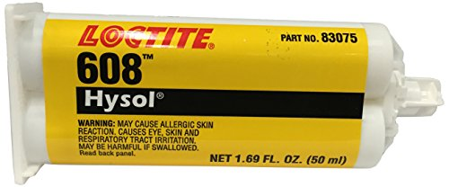 loctite clear hysol 608 twopart epoxy adhesive base and accelerator 50