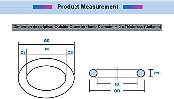 20mm OD O Tipo Anello 20pcs Spessore 3mm Nero O Ring di Tenuta NBR Oil Resistant O-Ring guarnizioni di Tenuta 10//11//12//13//14//15//16//17//18//19 W-NUANJUN-Spring Taglia : 12x6x3mm