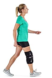Ice / Heat Therapy Wrap For Left / Right Knees - Great For Knee Sprains, Strains, Tendonitis, Arthritis, And Swelling, - Hot / Cold Gel Packs Included (Large / Extra Large)