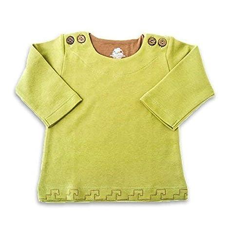 Mama Ocllo - Sudadera de manga larga de algodón Bio Pima - diseño Inca, y botón en coco - 100% bebé Talla:4-7 mois: Amazon.es: Bebé