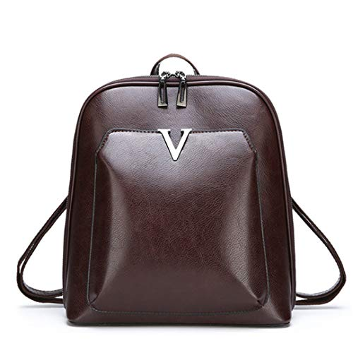 - Retro Oil Wax Leather Backpack Women Large Capacity Anti-Theft Backpack Shoulder Bag Multi-Purpose Travel Bag