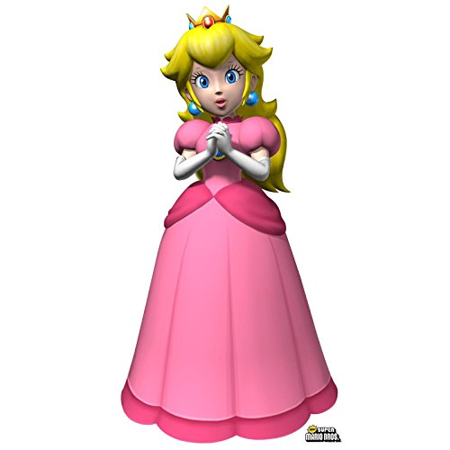 Super Mario Bros Room Decor - Princess Peach Life Size Cardboard Standup