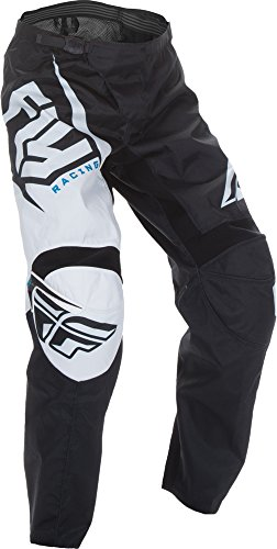 Fly Racing Unisex-Adult F-16 Pants (Black/White, Size 46) by Fly Racing