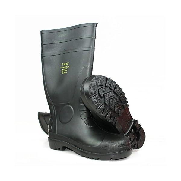 "LABO 15.5"" Mens Waterproof Winter Snow Rain Rubber Boots Slip-Resistant (M.d) 2"