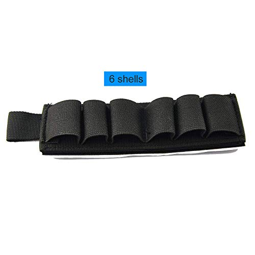 SkyCity Bullet Holder for Shotguns, 6ga Cartridge Back Glue Bullet Belt for Shotguns (Black)