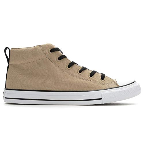 48c932ed40d4d Converse Men's Street Canvas Mid Top Sneaker (10 M US Womens / 8 M US Mens,  Vintage Khaki/White/Black)
