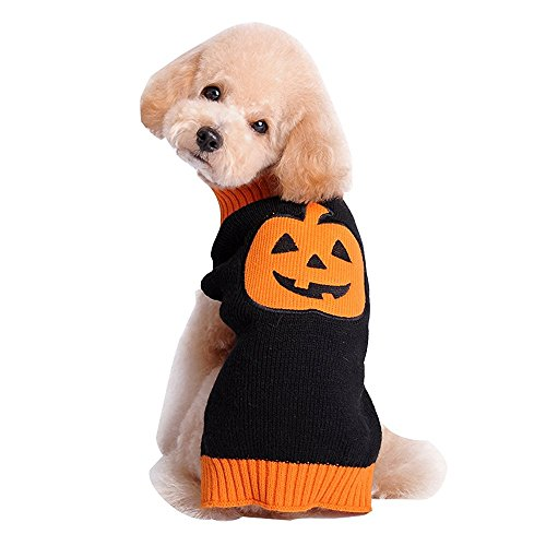 [KeOER Pet Dog Cat Pumpkin Fancy Costume Dog Cat Sweater For Halloween Party XXL] (Pug Chia Pet Costume)