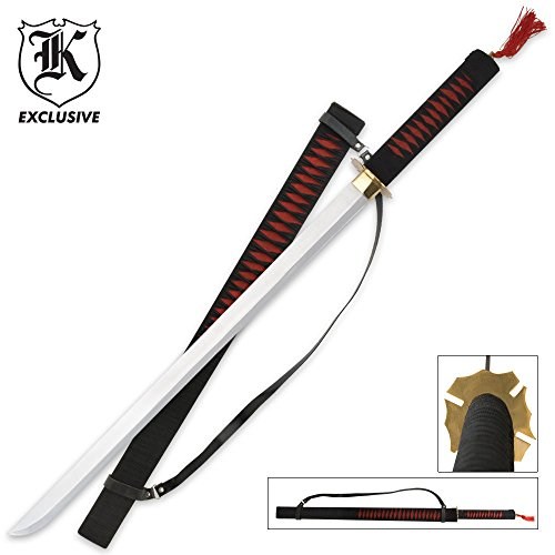 K EXCLUSIVE Red Warrior Ninja Samurai Ninjato Sword & Sheath
