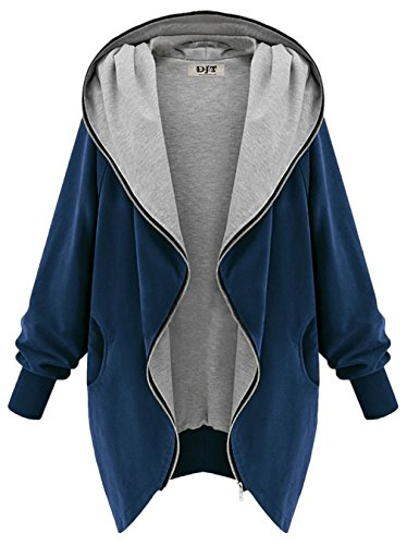 DJT Womens Hooded Zip up Sweatshirt