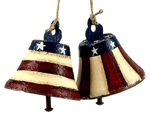 Liberty Bell Patriotic Decorative Hanging Ornaments - Set of 2 (Liberty Patriotic Bell)