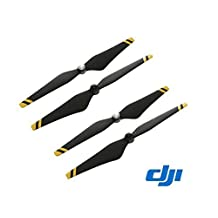 2 Pairs DJI Phantom 3 9450 Props Carbon Fiber Reinforced Self-tightening Propellers For Phantom 3 Professional, Advanced, Standard - Black W/ yellow Stripes