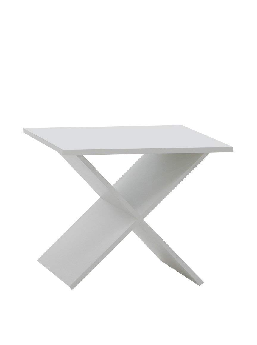 Mat: Nobilitato. Dim: 54,5x38,5x43 h cm Tavolino Stark C5 13Casa Col: Bianco