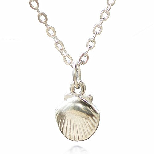 adecco-llc-silver-sea-shell-necklace-mermaid-valentine-necklace-beach-pandent-nautical-jewelry
