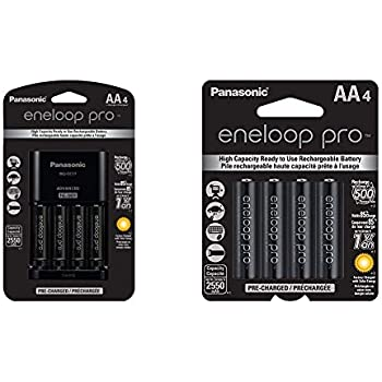 Amazon.com: eneloop AA with 4 Position Charger, 1800 cycle ...