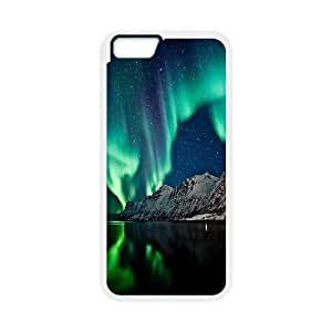 IPhone 6 Plus Cases .Northern Lights and Sea, IPhone 6 Plus Cases Northern Lights, [White]
