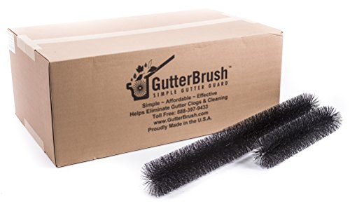 GutterBrush Leaf Gutter Guard for Standard 5 Inch Rain Gutters - 120 Foot House Pack