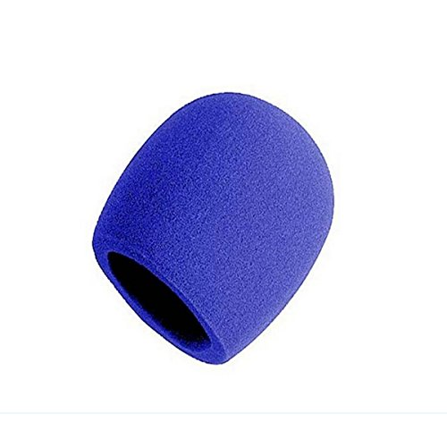 On-Stage Foam Ball-Type Microphone Windscreen, Blue from OnStage