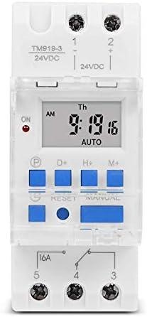 Silverdewi Electronic Weekly Programmable Digital Time Switch Relay Timer Control AC 110V 220V 24V 12V 5V 16A DIN Rail Mount