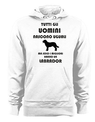 Uomini Le Cappuccio Nascono Humor Uguali Ma Con Felpa Labrador Hanno Tutte Cani Migliori Un Bianco Taglie Solo I T shirteria Tutti Gli Dog 0FSYRY