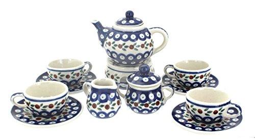 Polish Pottery Nature Miniature Tea Set (Polish Pottery Miniature Tea Set)
