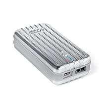 Zendure® 2nd Gen A2 Portable Charger 6700mAh - Extremely Durable Compact and Lightweight External Battery & Power Bank (2.1A Max Output with ZEN+ Technology) for iPad, iPhone, Samsung and more - Silver