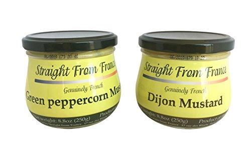 Mustard Gourmet (Straight from France - Gourmet Dijon & Peppercorn mustards 2x8.8oz)