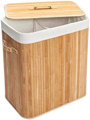 BZM-ZM カバーホルダーポーチ家庭用と木材ストレージバスケットダブルラティス竹折りたたみおもちゃ服オーガナイザーバスケットボディ