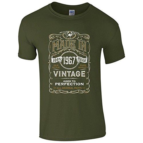 UKPrintwear Herren T-Shirt Gr. XXL, military green