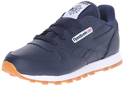 Cola Footwear (Reebok Kid's CLASSIC LEATHER GUM Shoe, Collegiate Navy/Gum, 4.5 Child US Toddler)
