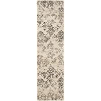 Safavieh Vintage Premium Collection VTG182-3440 Transitional Erased Weave Stone Distressed Silky Viscose Runner (22 x 8)