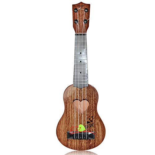 Kids Ukulele, Mini 4 Strings Cartoon Guitar Musical Educational Toys With Pick For Beginner Starter, Simulation Instrument With Animal Pattern & Vibrant Sounds Gifts For Boys Girls Age 3-9 Children